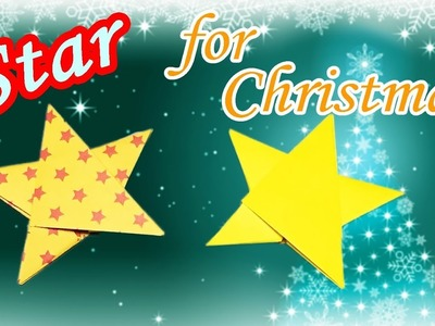 Origami Christmas Star Easy but Cool for Beginners with 1 Piece of Paper - DIY Paper Craft for Kids