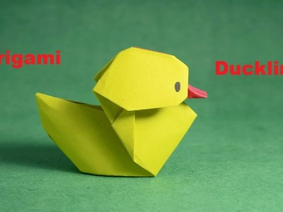 Origami Duckling।Baby Duck।How to make an Origami duck।Origami Little Duck Tutorial।।