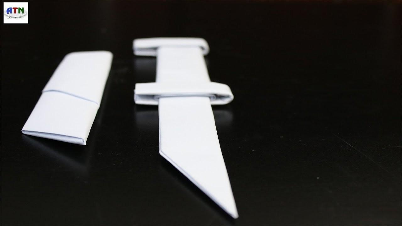Origami Paper Weapon Swordknife How To Make Sword