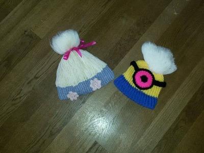 Poppy Troll hat english part 2 (of 3 parts) loom knitting