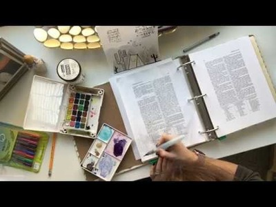 Process Video: How to Use Watercolors in Scriptures