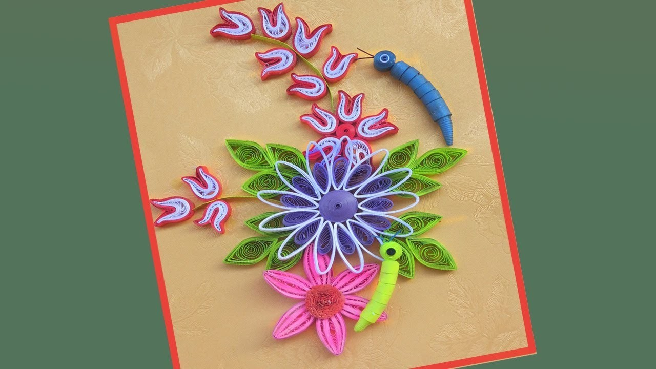 Quill Paper How To Make Beautiful Flower Design Greeting Card