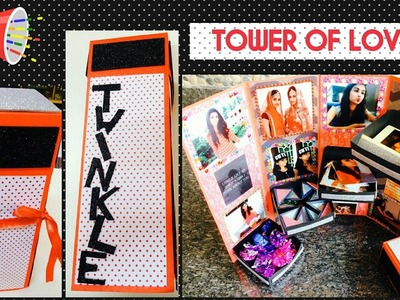 Tower box card.Tower box card tutorial.How to make tower box.DIY Crafts.Scrapbook.Album.Easy Gifts