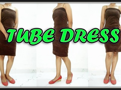 Tube Dress Cutting And Stitching | How To Make Stylish Tube Dress At Home | DIY