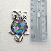 Unicorn Horn, Owl Pendant, handmade wearable art, womans necklaces, unique jewelry, valentines gifts for her, rainbow jewelry, owl jewelry
