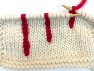 Vertical Stranding Knitting Tutorial