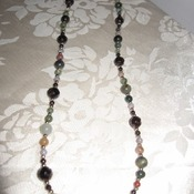 8 Handmade and 1 Of A Kind Real Multi Colored Gemstone Necklaces
