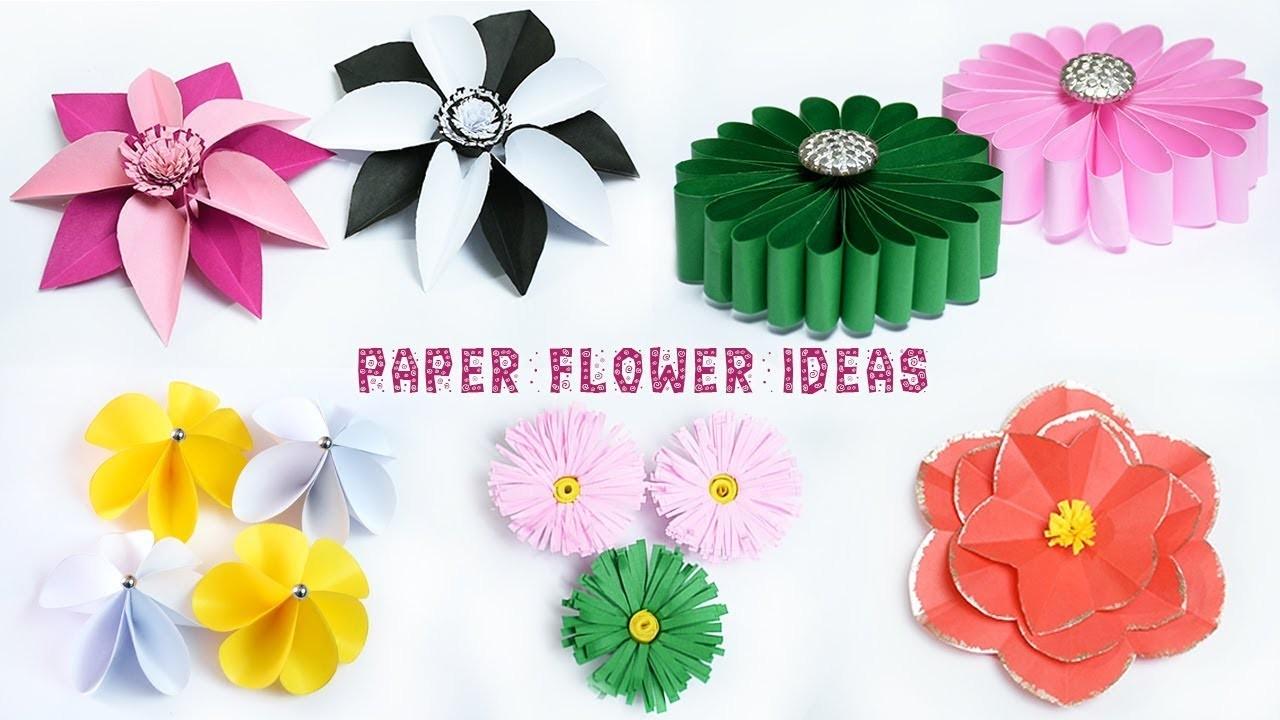 5 Easy Paper Flower Ideas Flowers Making Diy Crafts