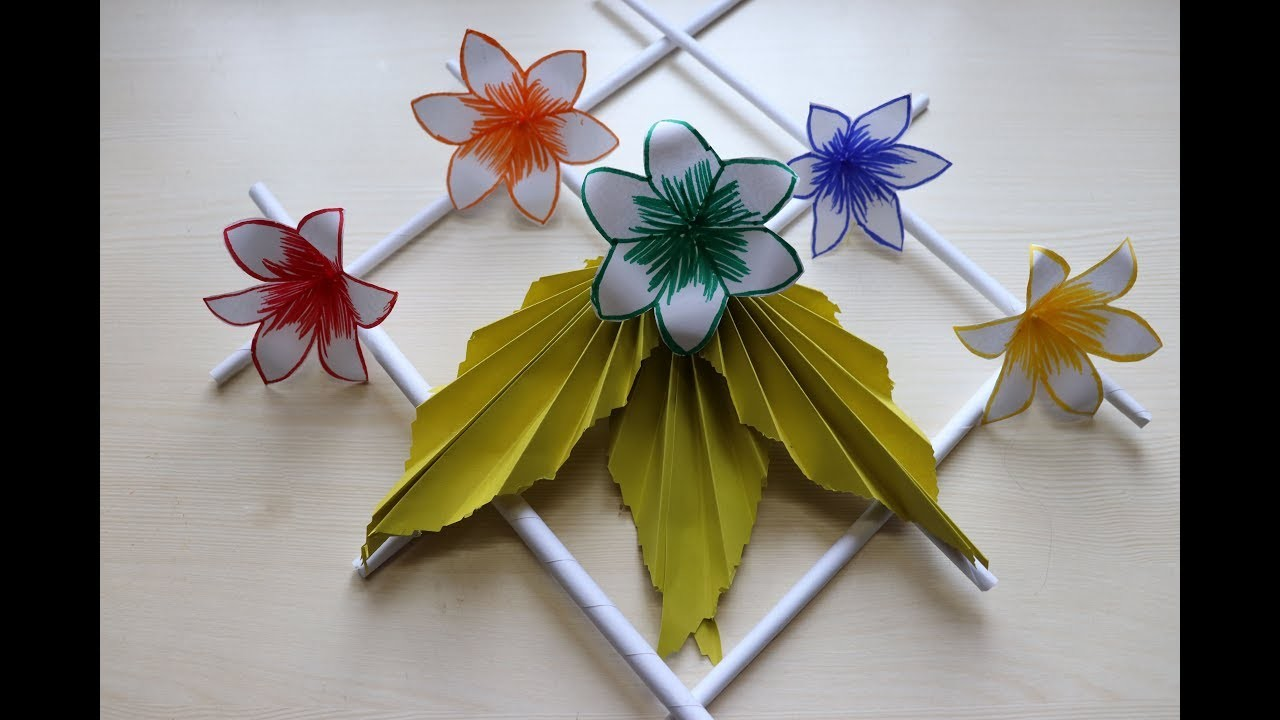 Cheap Diy Home Decor Paper Flowers Wall Hanging