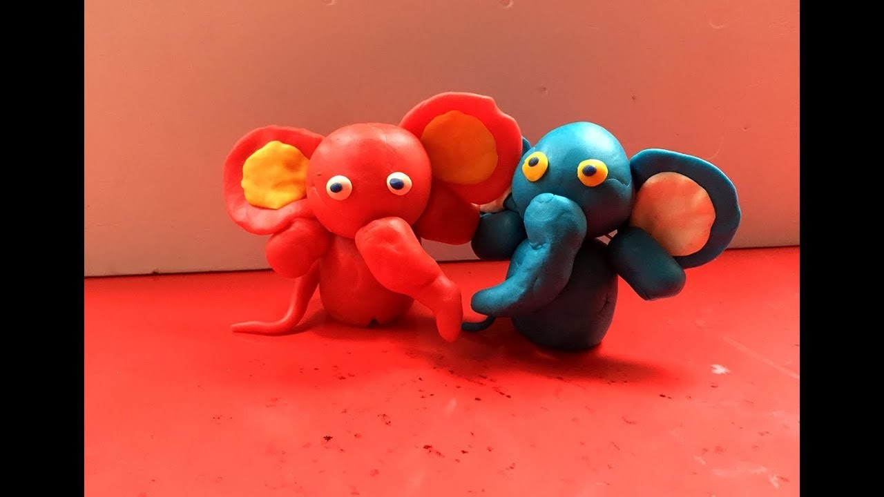 how to make clay art animals