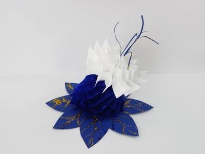 Decoration flower DIY honeycomb paper flower Dekoration Wabenpapier Blume