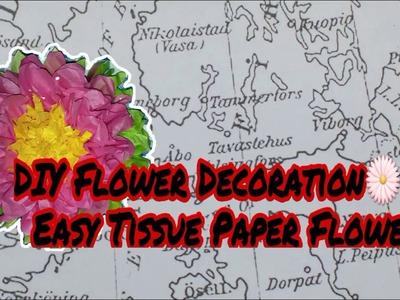 DIY Flower Decoration -- Easy Tissue Paper Flower