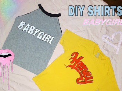 DIY graphic tumblr shirt! | - No transfer paper