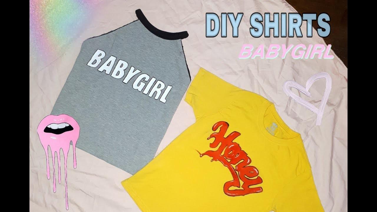 DIY graphic tumblr shirt!   - No transfer paper