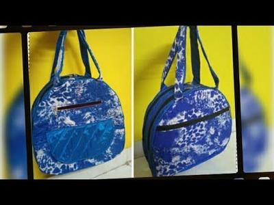 DIY : How To Sew Designer Handbag With Many Pockets By Anamika Mishra. .