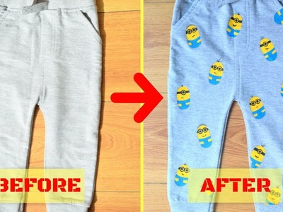 DIY MINION KIDS TROUSER I FABRIC PAINTING at HOME I Convert PLAIN into AWESOME I EP 1