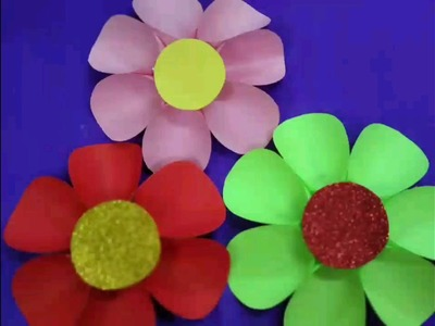 Easy 3d wall art decor with paper flowers easy home decor ideas diy paper flower innovative artsncrafts mightylinksfo