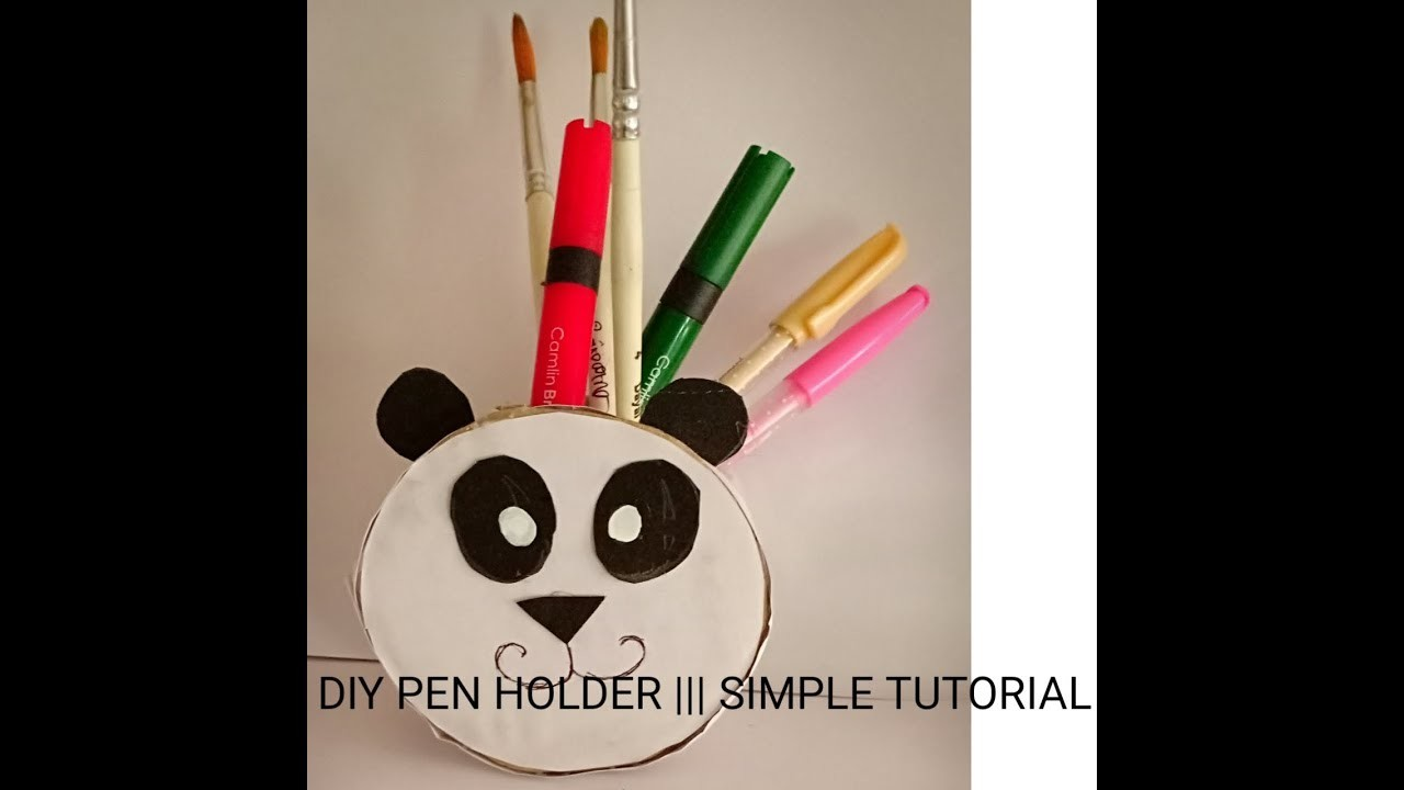 (DIY) Pencil Holder panda ????
