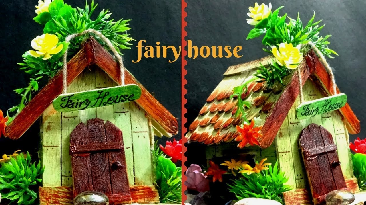 Easy DIY Fairy House |  Popsicle Stick Crafts
