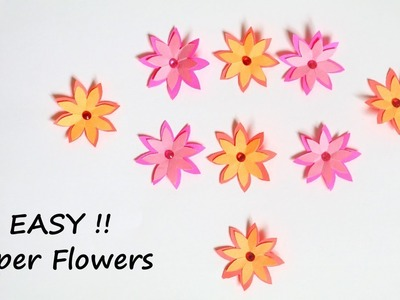 EASY Paper Flower Making Tutorial | Paper Crafts | Little Crafties