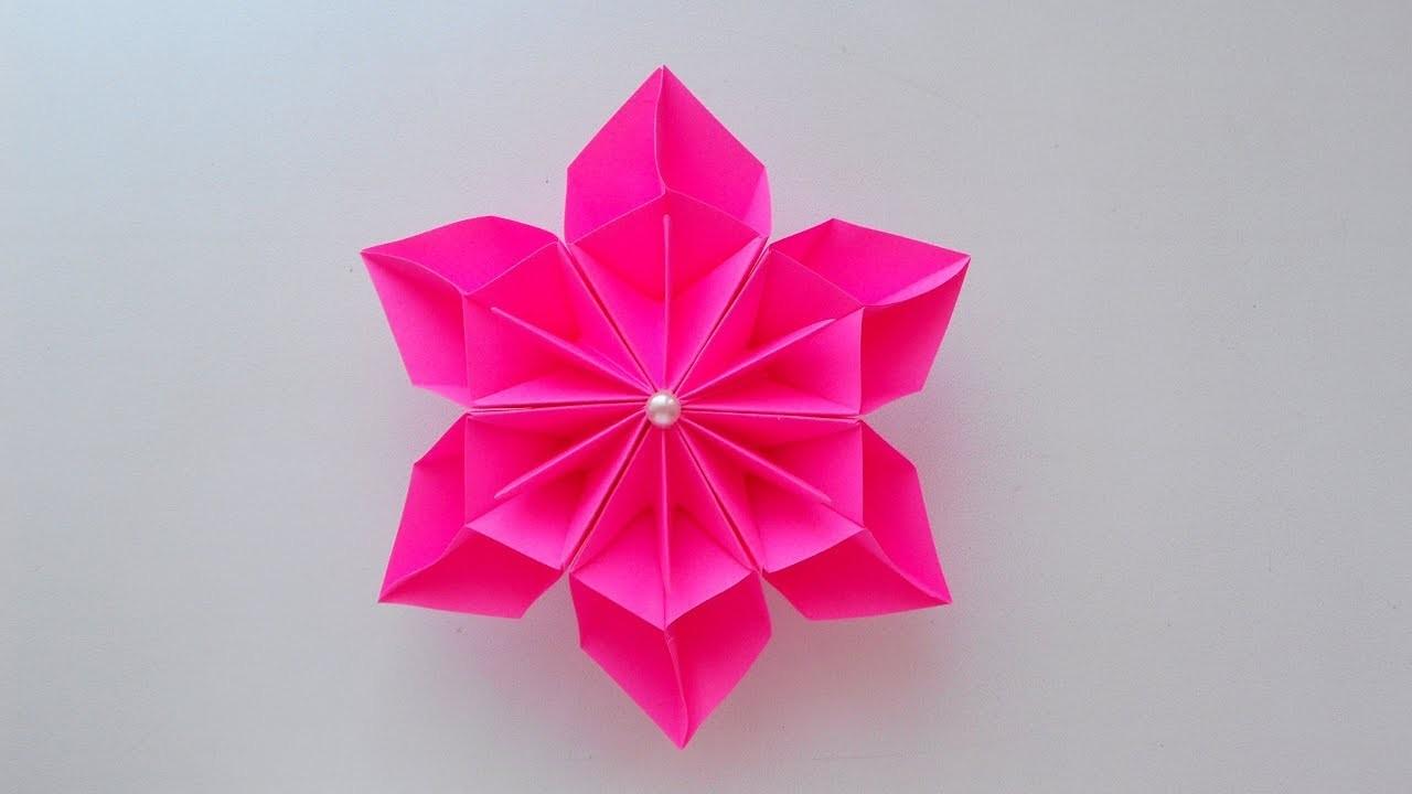 Easy paper flower origami flower making diy origami flower making diy mightylinksfo