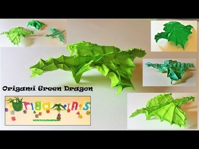 How to Fold a Green Dragon DnD Mini - Origami Green Dragon Tutorial