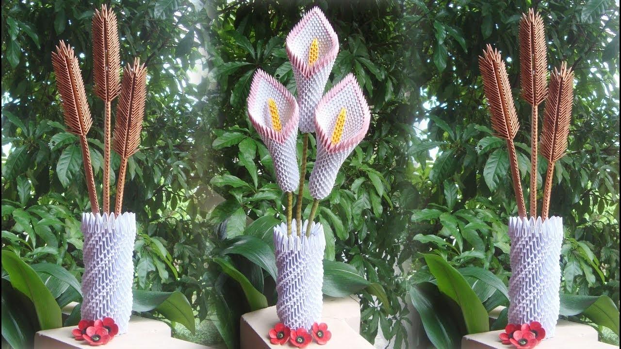How to make 3d origami flower vase v8 diy paper flower vase home decor how to make 3d origami flower vase v8 diy paper flower vase home decor mightylinksfo