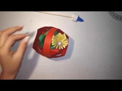 How To Make a Paper Basket. ( Si te bejme nje shporte letre ) || Me Mua ||