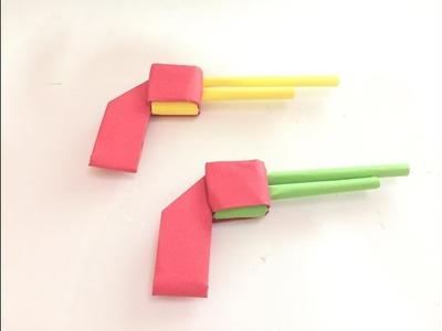 How To Make A Paper Gun That Shoots - Origami Gun - Easy Paper Gun