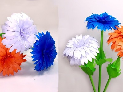 How to Make Beautiful & Lovely Paper Stick Flowers-Home Decoration - Jarine's Crafty Creation