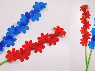 How to Make Beautiful & Lovely Paper Stick Flowers | Stick Flower | Jarine's Crafty Creation