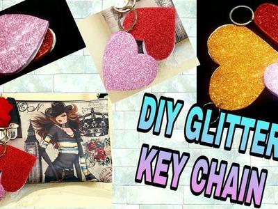 How To Make GLITTER Heart KeyChain BooK DIY #creativediaries