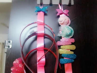 HOW TO MAKE HAIR CLIPS ORGANIZER.DIY HAIR PIN ORGANIZER