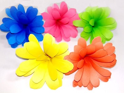 How to Make Small Simple Making Flower with Color Paper | Jarine's Crafty Creation