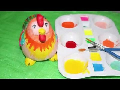 How to paint the colorful Hen Art for children Learn colors