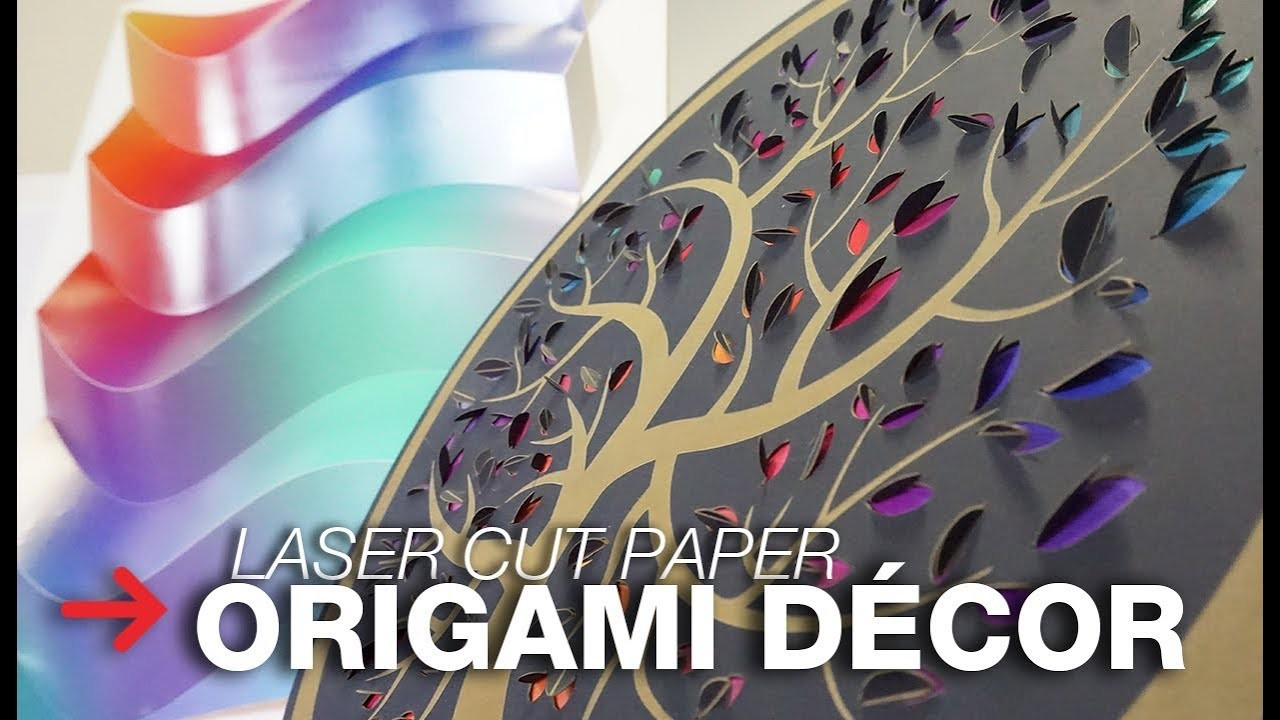 Laser Cut Origami | Laser Cutting Paper Décor | Interior Design