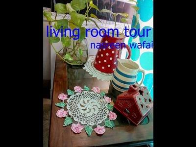 Living room tour.decorating ideas.diy.how to decorate.urdu.sindhi