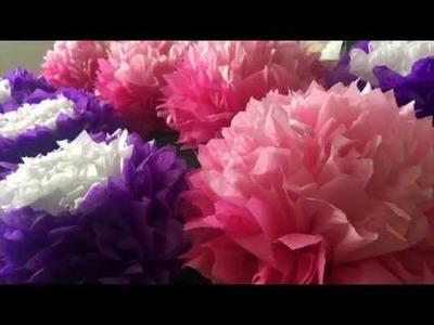 Pom multi color pom pom flowers tissue paper flowers multi color multi color pom pom flowers tissue paper flowers mightylinksfo