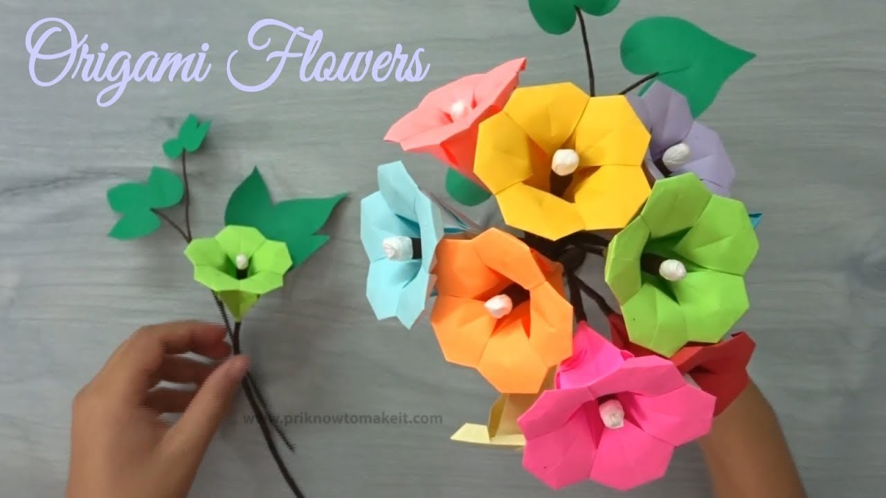 Origami flower how to make paper flower bouquet origami flower origami flower how to make paper flower bouquet origami flower tutorial izmirmasajfo
