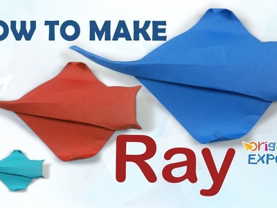 Origami ray tutorial - Origami ray fish - Easy way to make paper ray fish