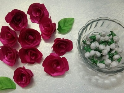 34. how to make jasmine buds with tissue paper