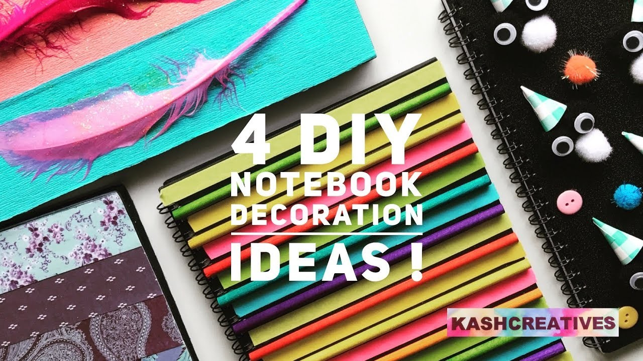 4 Easy Diy Notebook Decoration Ideas Diy Notebook Cover Ideas Back