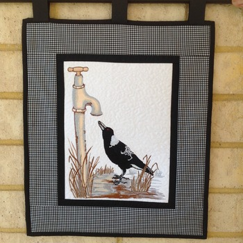 Australian Magpie Wall Hanging