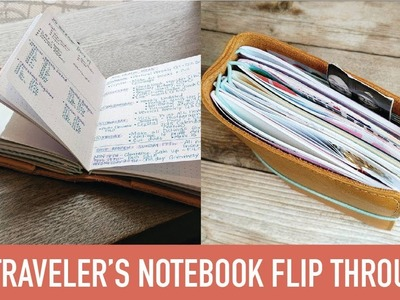 B6 Traveler's Notebook Flip Through | SEPT 2017 | Yellow Paper House