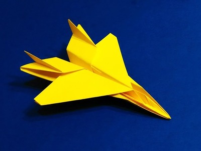 BEST ORIGAMI PAPER JET -  How to make a paper airplane model for Kids - F 14 - Origami Paper