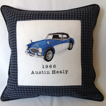 Classic car cushion cover for man
