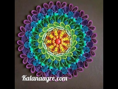 Diwali Decor : Paper Quilling. Paper Rangoli : Innovative rangoli design