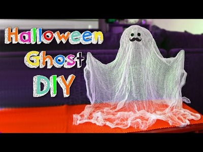 DIY Easy Halloween crafts -  how to make a funny ghost - Halloween DIYs decoration - Mr. DIY