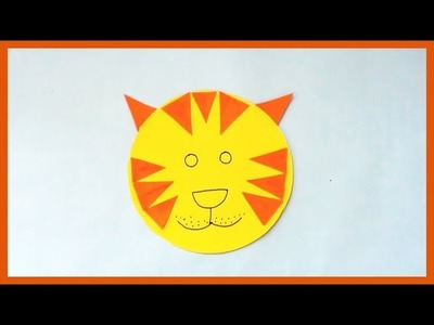 DIY Easy Paper Cat | Simple Paper Animal Mask | Paper Crafts for Kids