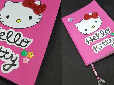 DIY Hello Kitty Notebook. How to make Notebook. DIY Notebook